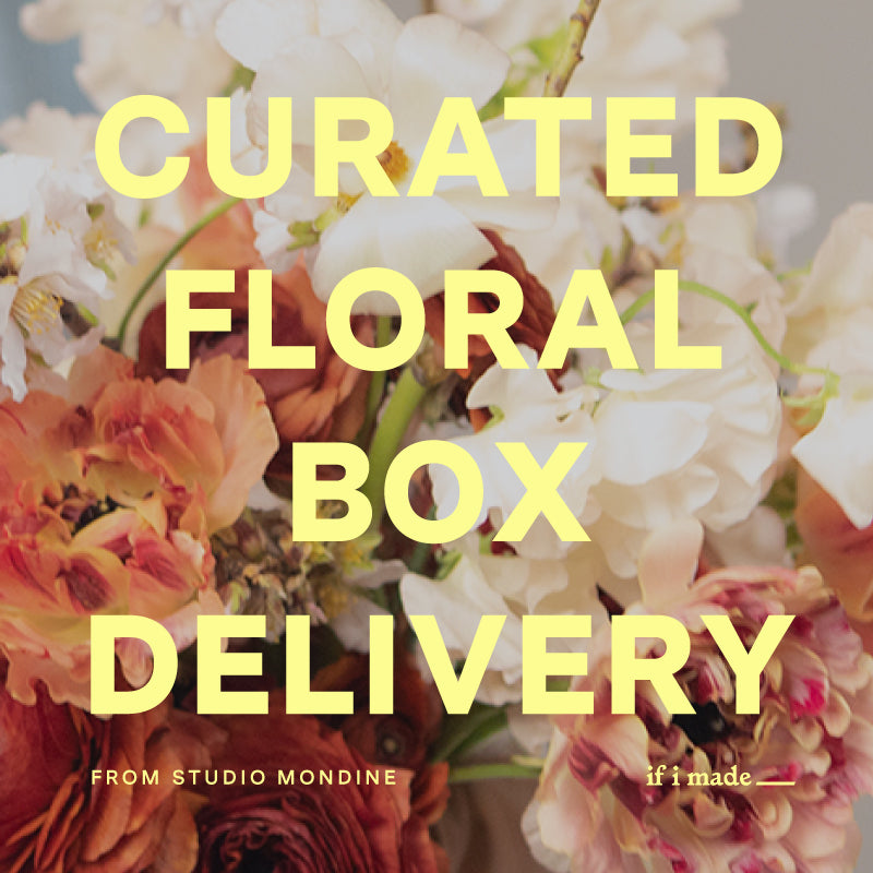 Curated Floral Box Delivery from Studio Mondine - 5 monthly payments of $69