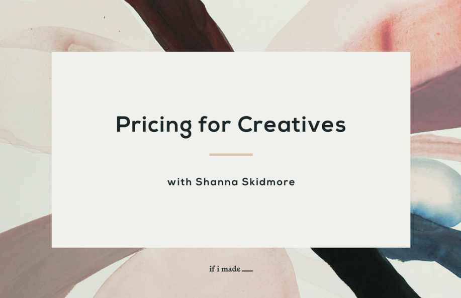 Sale Payment Plan: Pricing for Creatives with Shanna Skidmore - 7 Monthly Payments of $99