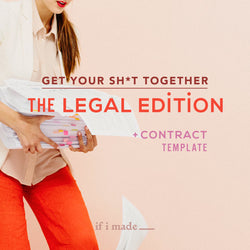 Legal Course + Contract Template - Styled Shoot Collaboration