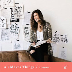 Brush Lettering: From Sketch to Screen with Ali Makes Things