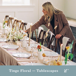 Tablescape Design with Tinge Floral