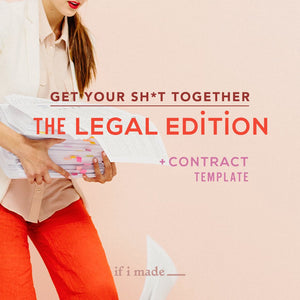 Get Your Shit Together: The Legal Edition -Wedding Stylist-5 Monthly Payments of $99