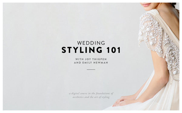 Payment Plan: Wedding Styling 101 with Joy Thigpen 4 Payments of $179