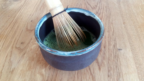 Whip up Matcha Preparation Matcha with a broom