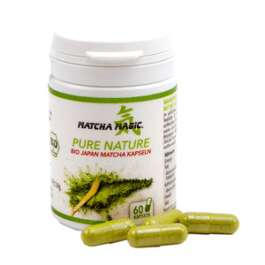 Integratore alimentare Matcha con capsule Pure Nature Matcha con Matcha biologico di Matcha Magic.