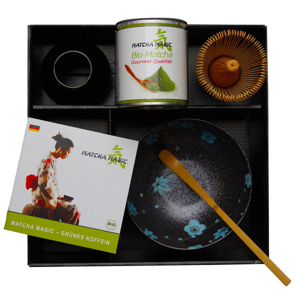 Compra Matcha Set Gourmet a Matcha Magic, inclosos el te Matcha i els accessoris Matcha.