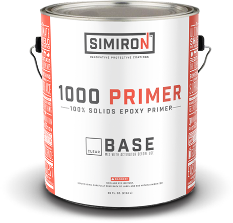 SIMIRON 1000HS 100% Solids Clear Primer Gallon Kit