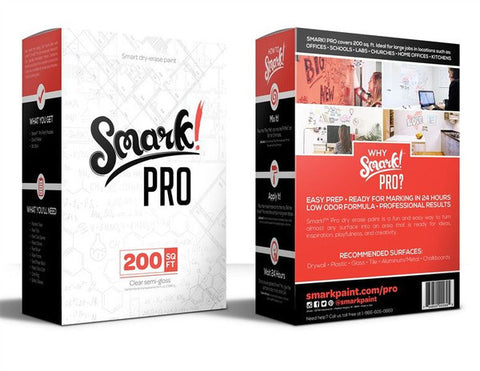 Smark Pro Dry Erase Paint 200 Sq. Feet Kit