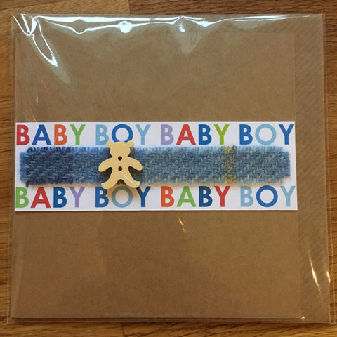New Baby Boy Card - Teddy Bear - The Bramble Bush