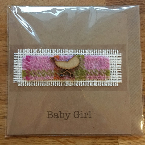 New Baby Girl Card - Pram - The Bramble Bush