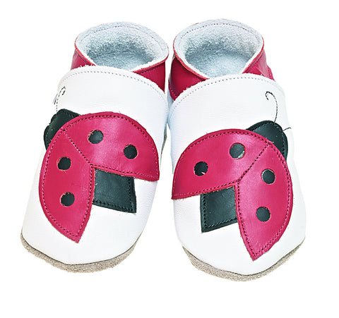 Lady Bug Soft Leather Baby Shoes - The Bramble Bush