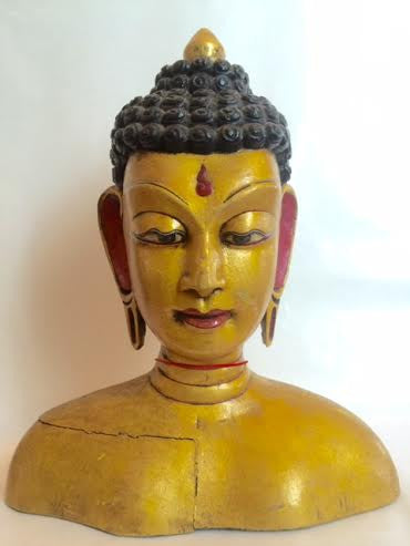 Gold Buddha Head