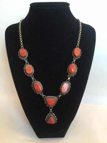 Mounted Antique Coral Necklace