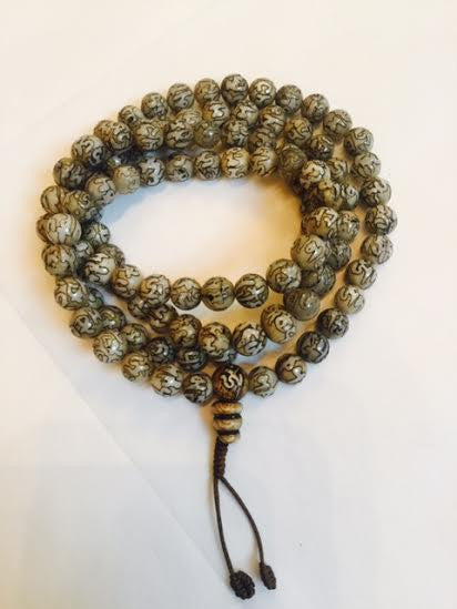108 Bead Conch Shell Mala