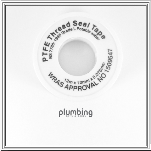 PTFE Plumbers Tape White WRAS approved