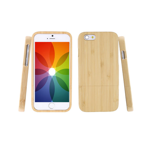 Genuine Natural Bamboo Hard Back iPhone Cover
