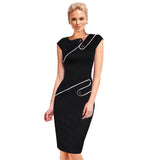 Elegant Patchwork Full Sleeve Bodycon - J20Style - 4