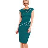 Elegant Patchwork Full Sleeve Bodycon - J20Style - 7