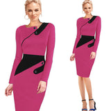 Elegant Patchwork Full Sleeve Bodycon - J20Style - 5