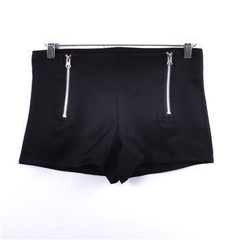 Candy Color Double Zips Hot Slim Shorts - J20Style - 3