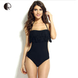 Sexy Tassel Body Con One Piece Suimuit