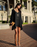 Full Sleeve Chiffon V-Neck Dress - J20Style - 3