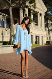 Full Sleeve Chiffon V-Neck Dress - J20Style - 8