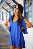 Full Sleeve Chiffon V-Neck Dress - J20Style - 5