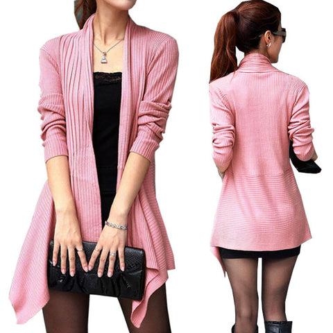 Irregular Length Women Cardigan