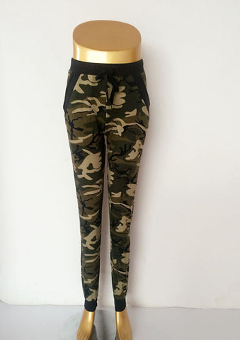 Camouflage Jogger Pants With pockets for women