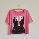 Summer Fox Loose Cotton Casual TShirt Women
