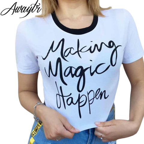 Making Magic happen Women's Summer Tshirt