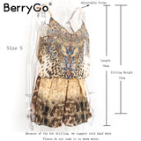 Berry Brown backless strap chiffon Playsuit