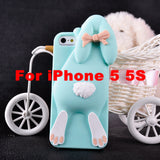 3D Soft Cute Silicone Rabbit Case For For iPhone 6 6s