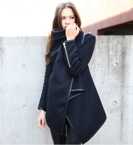 Autumn Irregular Overcoat for Women - J20Style - 3