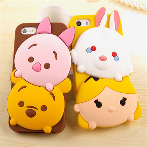 Cute 3D Cartoo Soft Silicone iPhone Case