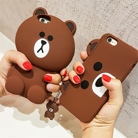 3D Teddy Bear Silicone iPhone Case