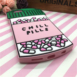 3D Sweet Love Potion Chill Pills Rubber Soft Cute iPhone Case