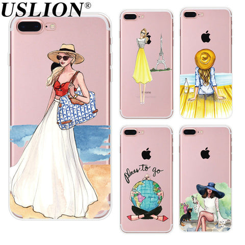 Travel Girl Soft iPhone Back Cover