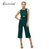 Belt Corset Hollow Out Women Sleeveless Jumpsuit