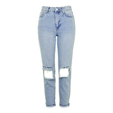 Embroidery Distressed Skinny Women Jeans