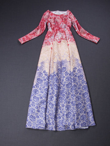 Sweet Floral Printed Long Dress - J20Style - 2