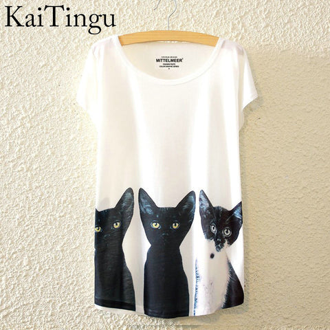Black Cats O-Neck Short Sleeve T Shirt