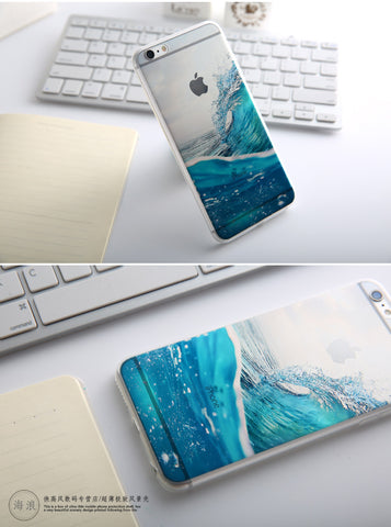 Blue Waves Case For iPhone