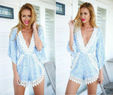 Summer Loose White Floral Jumsuits - J20Style - 6