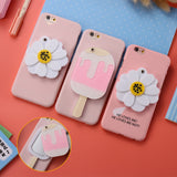 Cute 3D Daisy Flower Mirror iPhone Cover