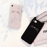 Cute Cat Whiskers Soft Silicon Case for iPhone