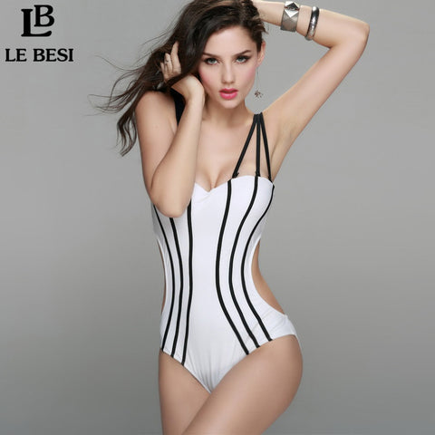 Brazilian Bandage Push Up One Piece Swimsuit