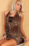 Summer Sequined Tiger Printed Dress - J20Style