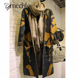Camouflage Long Knitted Women Cardigan